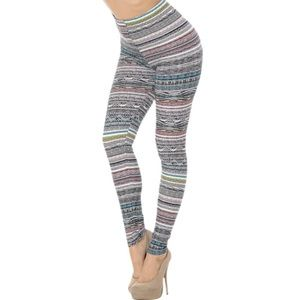 EEVEE Buttery Soft Leggings Tribal Cascade 3X-5X